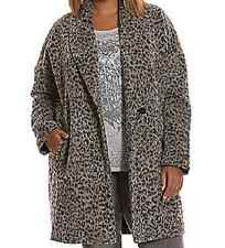 Lane Bryant sexy faux leopard print button up lighter weight coat/jacket 22/24