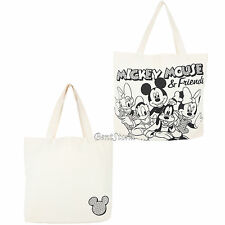 Disney Mickey Mouse & Friends Canvas Reusable Shopping Purse Beach Bag Tote NEW