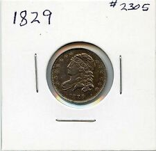 1829 10C Capped Bust Silver Dime. Almost Uncirculated. Lot #1971