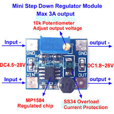 DC Buck Converter Step Down Power Module 4.5-28V to 3V 3.3V 5V 12V 24v 3A Adjust