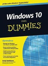 Windows 10 para Dummies by Andy Rathbone (2016, Paperback)