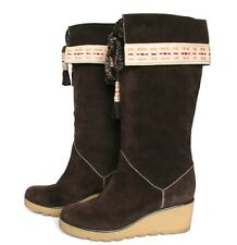 UK 5 / 38 - Marc Jacobs - Brown Suede / Leather Boots - Rubber Wedge Heel