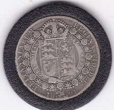 1891   Queen  Victoria  Half  Crown (2/6d) - Sterling  Silver Coin