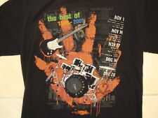 """The Best of 1999-2009"" Drums Electric Guitar A2 Music Soft Black T Shirt M"