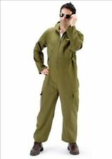 Maverick Dark Green Flight Pilot Jumpsuit Fancy Dress Costume  Size M-L P6057