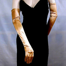 "Opera Gloves 23"" Long, Smooth Satin Stretch for Formal Evening Bridal Prom  G163"