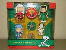 NEW in box PEANUTS Christmas Countdown Advent Star Charlie Brown Snoopy
