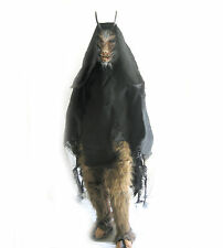 Goat Devil of Hell Horned Devil Adult Latex Halloween Mask & Hairy Legs Costume