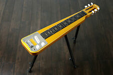 Nashville 6 String Lap Steel guitar & legs QUINCY tone bar Metallic GOLD slide