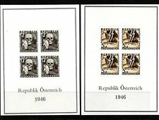 AUSTRIA 1946 HITLER DEATH MASK & SS LIGHTNING BOLTS STRIKING AUSTRIA S/S COPIES