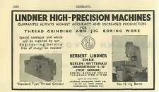 1953 Herbert Lindner Berlin Precision Machines Ad