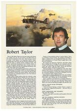 Robert Taylor - Aviation and Marine Artist- Biography Flyer