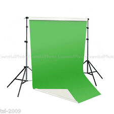 Pixapro 2x4m Dual Sided Green/White Vinyl Backdrop & Telescopic Background Stand
