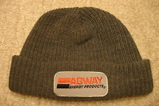 AGWAY ENERGY PRODUCTS Gray Knit Skull Beanie Hat FREE GIFT KEY RING winter cap