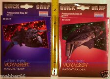 2 RARE NEW STAR TREK VOYAGER 1996 Mini Kazon Raider,Maquis Spaceship,Snap Models