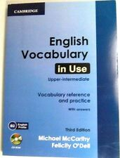 CAMBRIDGE ENGLISH VOCABULARY IN USE UPPER - INTERMEDIATE WITH ANSWERS AND CD-ROM