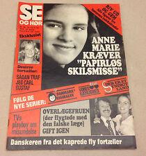 QUEEN ANNE-MARIE GREECE KING CONSTANTINE II BREAKUP VINTAGE Danish Magazine 1974