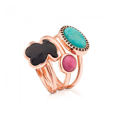 TOUS RINGS VERMEIL PINK PLATED