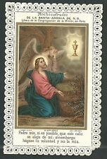 estampa de puntilla canivet de Jesus andachtsbild santino holy card  santini