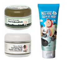 Elizavecca Bubble Clay Mask + Collagen Jella Pack + Hell-Pore clean Up Nose Mask
