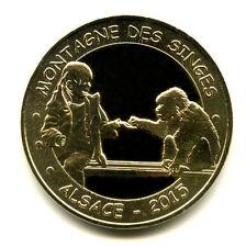 67 KINTZHEIM Montagne des singes 10, Singe et fillette, 2015, Monnaie de Paris