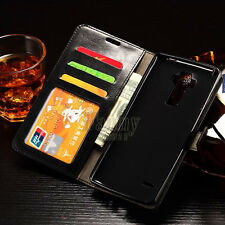 Flip Leather Card Wallet Kickstand Black Case Cover for LG G Stylo,LS770/H631