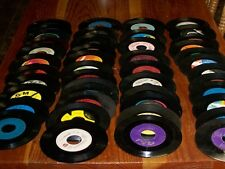 "Bulk Lot of 25 - 7"" 45 RPM Vinyl Records For Decorating or Arts & Crafts"