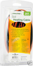 Super SALE $$ Jump Start Soil Heating Cable 24' Built-in thermostat BAY HYDRO