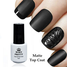 BORN PRETTY Matt TOP COAT Überlack 5ml Soak off Maniküre Nail Polish UV Gel