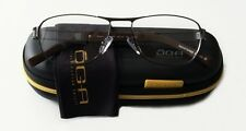 Oga Morel Eyeglasses 6972O 53/15/140 GN020 Black/Gunmetal Flexible Hinge Aviator