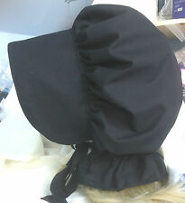 victorian edwardian adult baby fancy dress black bonnet cap hat white sissy maid