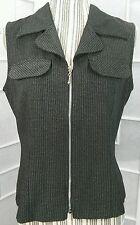 Sz 11/12 All That Jazz Zip Front Black & White Houndstooth Vest