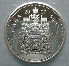 2007 CANADA 50 CENTS PROOF SILVER HALF DOLLAR COIN