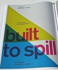 Built to Spill ROCK AND ROLL BAND MINI POSTER CONCERT  REPRINT  GREAT ARTWORK