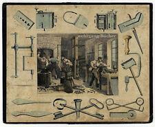 Représentation professionnelle, serrurier. farbfederlitho-tablette, schreiber Esslingen pour 1844