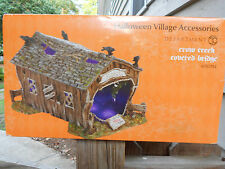 DEPT 56 HALLOWEEN VILLAGE Accessories CROW CREEK COVERED BRIDGE NIB