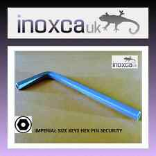 "1  @  7/32"" A/F CR-V IMPERIAL SECURITY ANTI-TAMPER ALLEN L SHAPE KEY HEXAGON PIN"