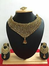 New Indian Bollywood Style Gold Plated Wedding Fashion Jewelry Necklace Set