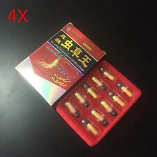 4 BOXES CHONG CAO WANG Male Sex Pill All Natural Herbal ENHANCER 40 Pills NN