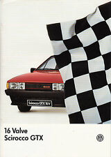 VOLKSWAGEN 16 VALUE SCIROCCO GTX OCTOBER 1985 BROCHURE.