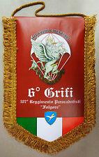 """Gagliardetto 6° COMPAGNIA """"GRIFI"""" - 187° RGT. PARACADUTISTI FOLGORE (Originale)"""