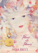 """Publicité Advertising 1982  Parfum """"Fleur de Fleurs"""" de NINA RICCI ..."""
