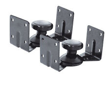 Black Knuckle Type Swivel Speaker Wall Brackets