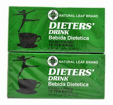 """2 Cajas de dieta """"Copa Bebida Dietetica Natural Hoja Marca Dieta 36 bolsa de té"""