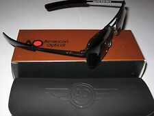 55mm Black Frames American Optical AO Pilot Sunglasses