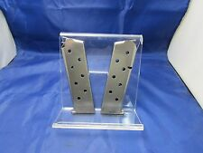 TWO STAINLESS 1911 MAGAZINES 45 AUTO MAG 7 ROUND FITS COLT KIMBER SPRINGFIELD