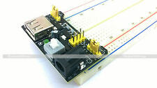 MB102 830 Points Breadboard + 3.3V & 5V Power Supply Module for Project/Expermnt