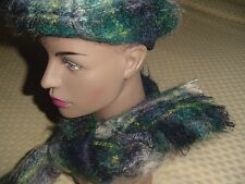 Mohair Hat & Scarf Set Yarrovale Scotland 75% Mohair 25% Wool