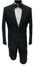 34R NEW 100% Wool Mens Navy Blazer 2 Button Notch Lapel Buisness Suit Jacket
