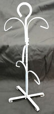 Vintage Metal Jewelry Necklace Bracelet Stand Holder Tree Rack Wire White Paint